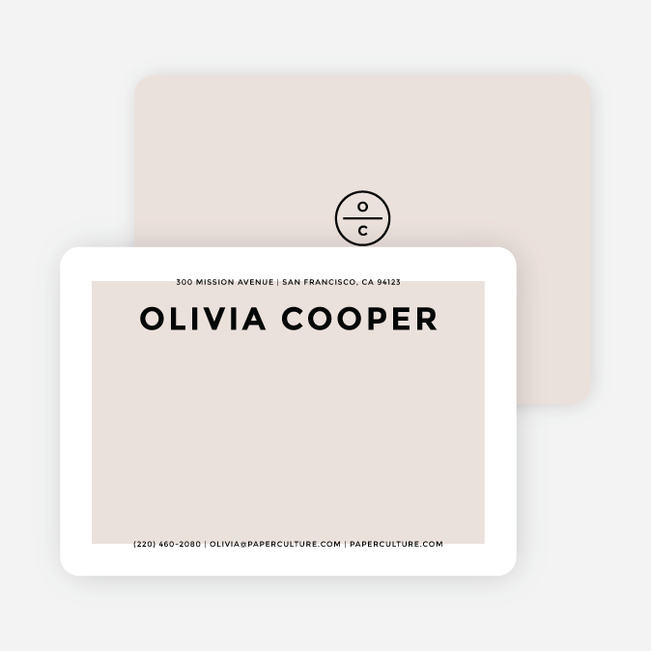 Simply Chic Personalized Stationery - Beige