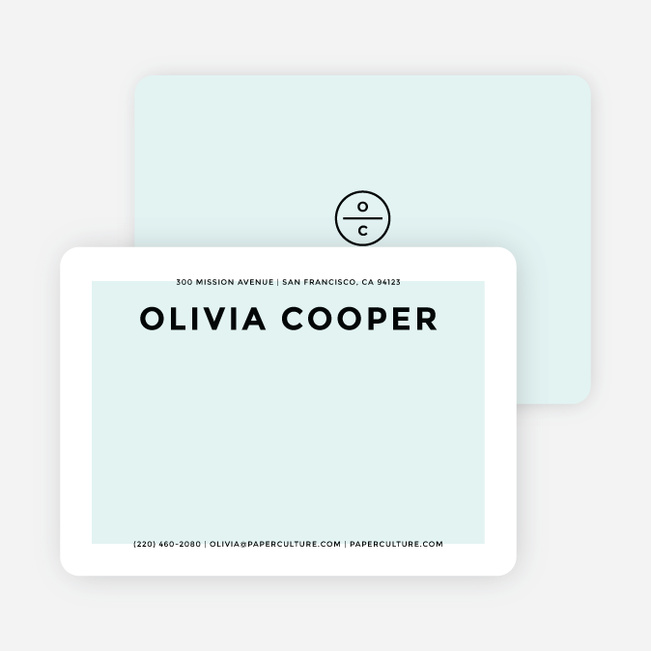Simply Chic Personalized Stationery - Blue
