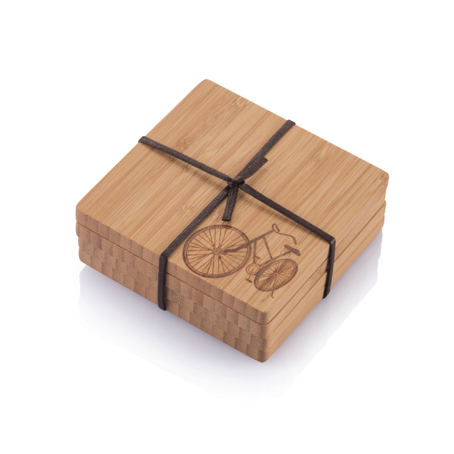 Bamboo Bike Coasters - Brown