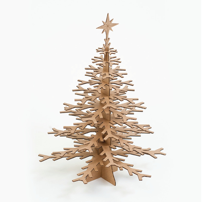 Cardboard Christmas Tree - Brown