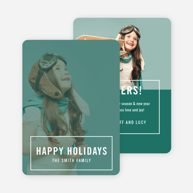 Big Statement Holiday Cards - White