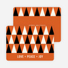Geometric Trees Holiday Cards - Orange