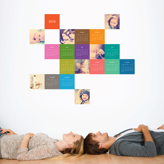 Photo Calendar Wall Decals - Multi