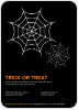 Trick or Treat Spider Webs - Front View