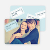 Admit One Ticket Themed Save the Date Cards - Marina Blue