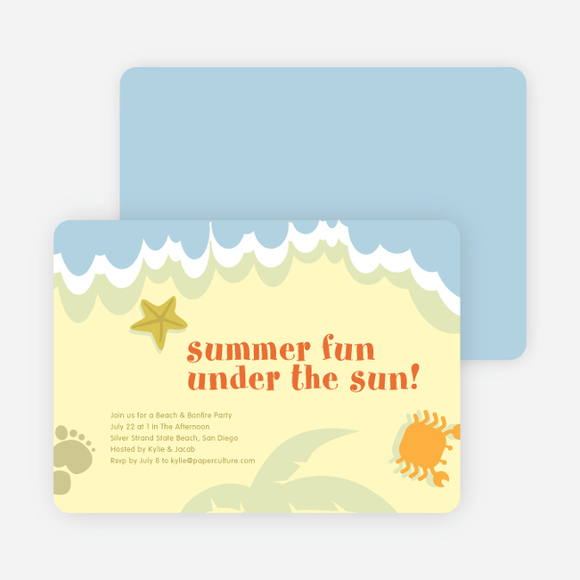Beach Themed Summer Party Invitations – Beach Themed Party Invitations