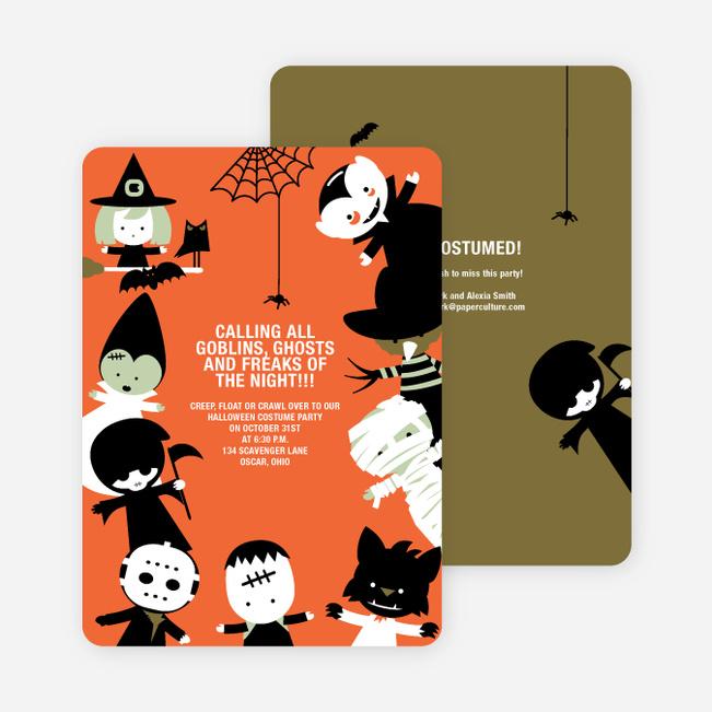 Costume Party Halloween Invites – Halloween Costume Party Invite