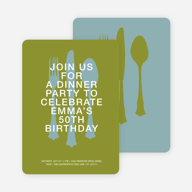 Dinner Party Invitations - Pea Soup