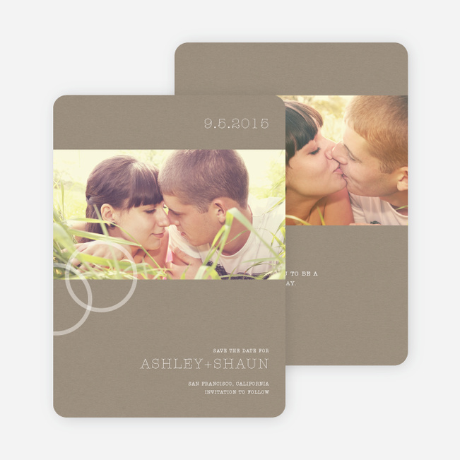 Engagement Ring Save the Date Photo Cards - Stone