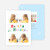 Happy Holiday Scribbles Holiday Cards - Blue