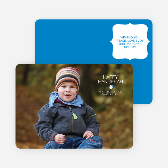 Modern Dreidel Hanukkah Cards - Royal Blue