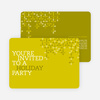 Modern Pattern Holiday Party Invitations - Khaki