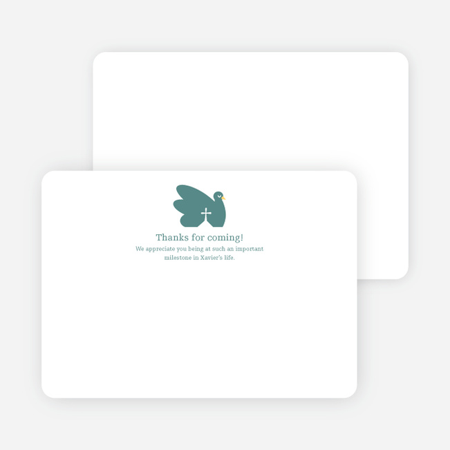 Notecards for the 'Swan Cross Baptism' cards. - Greenish Blue