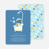 Rub a dub dub, a Hippo in the Tub Baby Shower Invitations - Cadet Blue