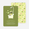 Rub a dub dub, a Hippo in the Tub Baby Shower Invitations - Bamboo