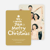 We Wish You a Merry Christmas Card - Yellow