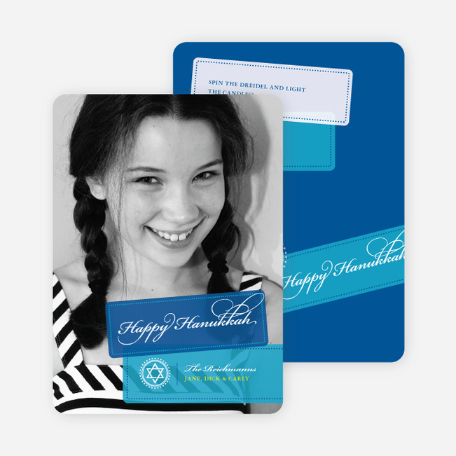 World Travels Hanukkah Photo Cards - Royal Blue