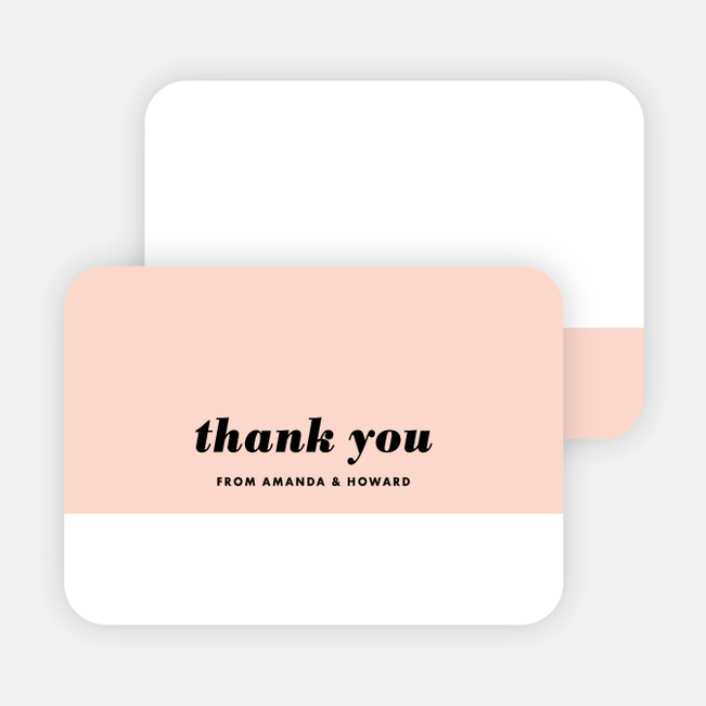 Couple's Seal Wedding Thank You Cards - Pink