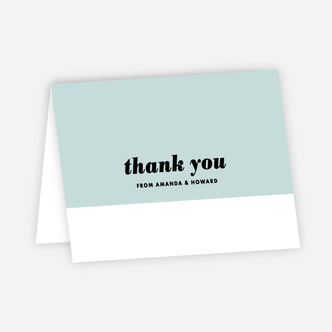 Couple's Seal Wedding Thank You Cards - Blue