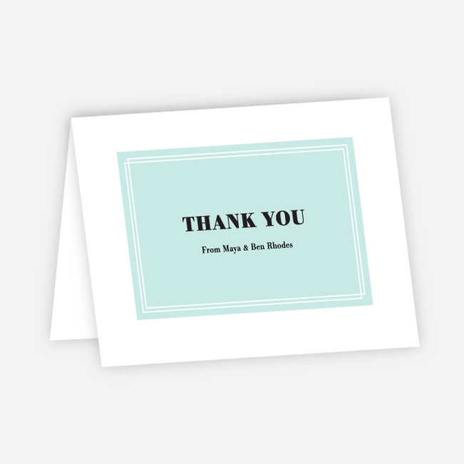 Simple & Chic Wedding Thank You Cards - Blue