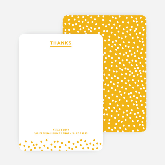 Confetti Notecards - Yellow