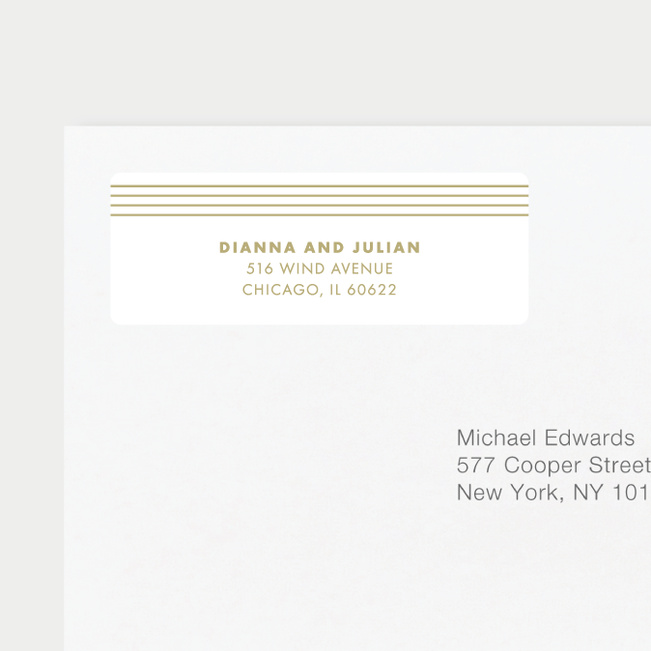 Diamond Wedding Gift Tags & Stickers - Beige