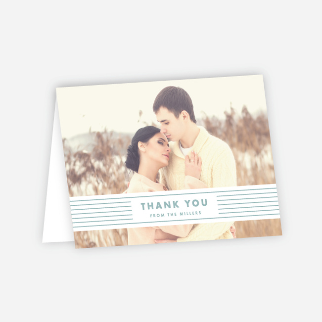 Diamond Wedding Thank You Cards - Blue