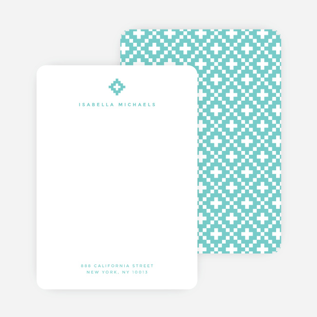 Geometric Stars Notecards - Blue