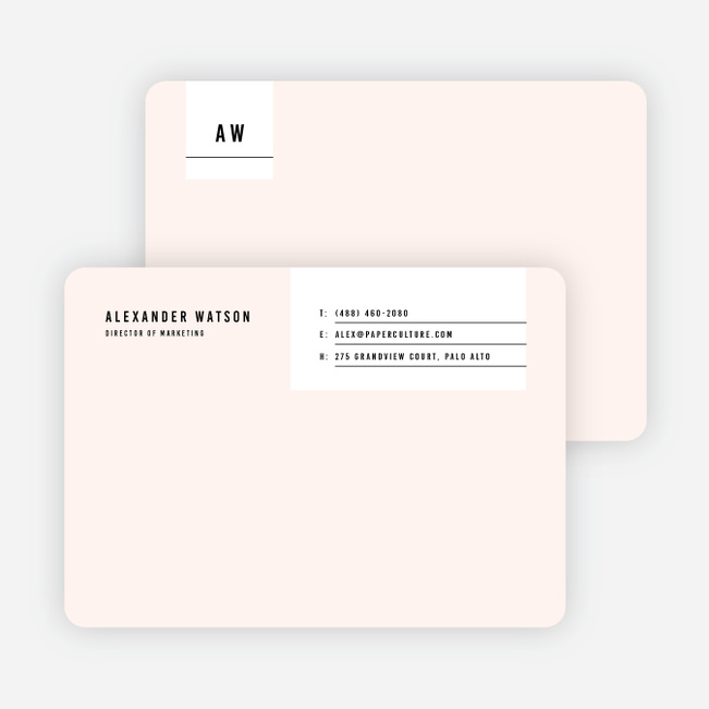 Modern Postcard Notecards - Pink