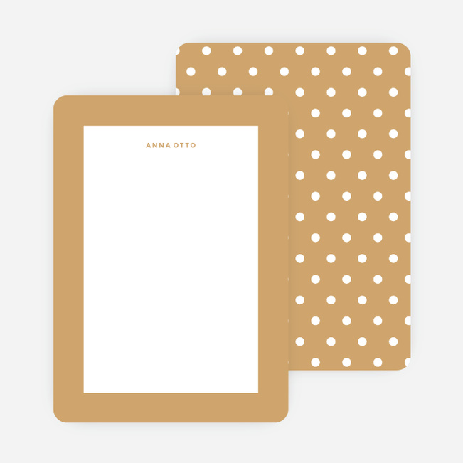 Polka Dot Love Custom Stationery - Yellow