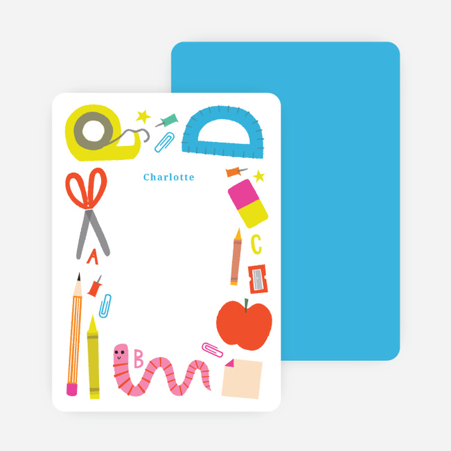 School Supplies Stationery - Blue