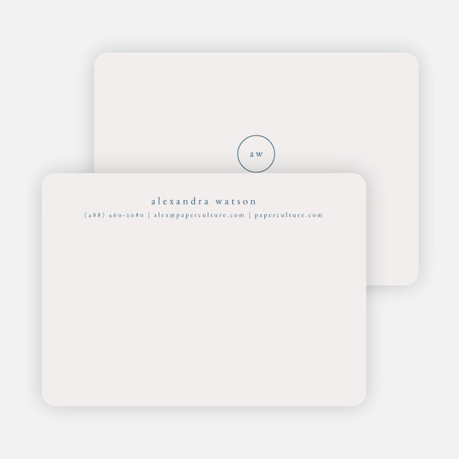 Simple & Elegant Stationery - Blue