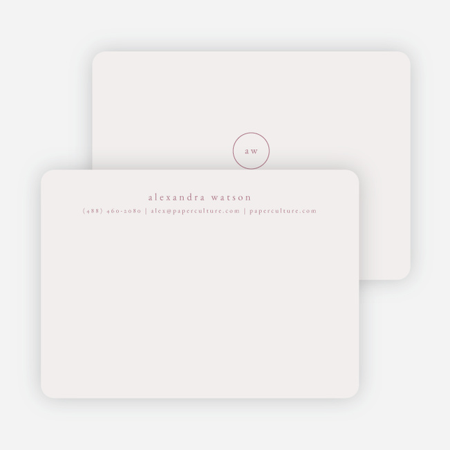 Simple & Elegant Stationery - Purple