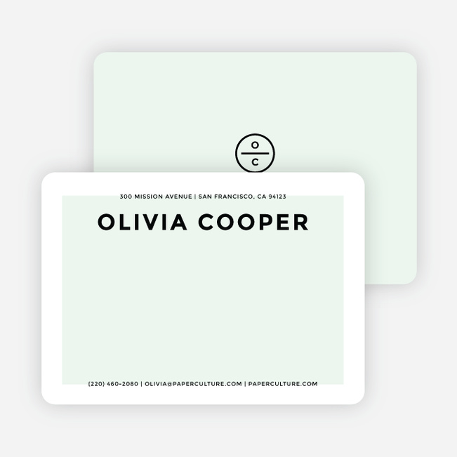 Simply Chic Personalized Stationery - Green