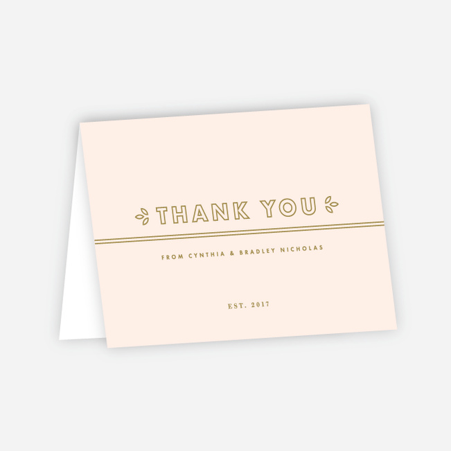 Chic Floral Wedding Thank You Cards - Pink