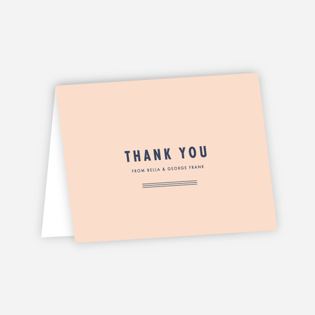Puzzle Pieces Wedding Thank You Cards - Pink