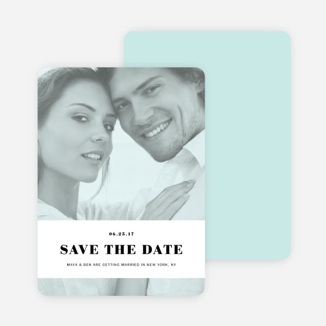 Simple & Chic Wedding Save the Date Cards - Blue