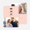 Couple's Seal Wedding Save the Date Cards - Pink