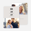 Couple's Seal Wedding Save the Date Cards - Gray