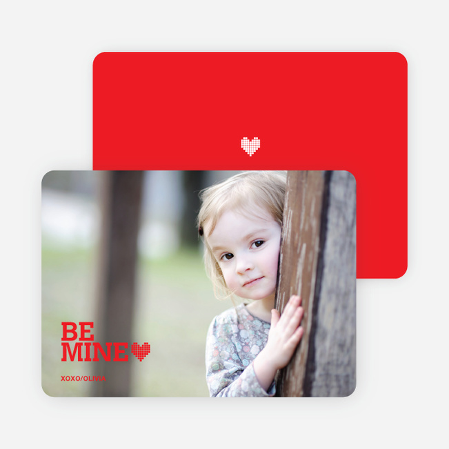 Valentine's Day Photo Card: Be Mine - Tomato Red