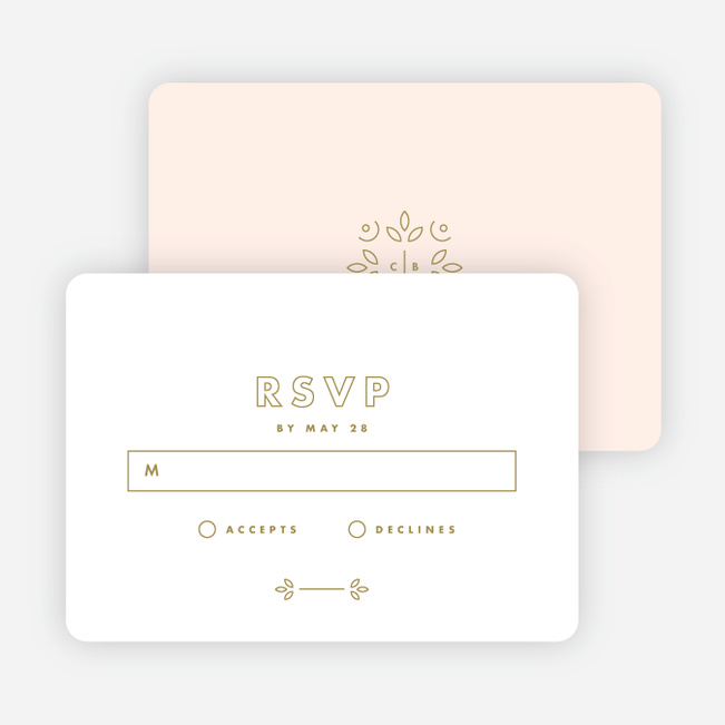 Line Up, Be Counted Wedding Response Cards - White