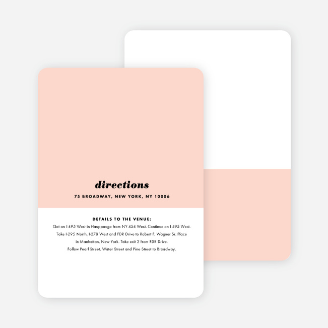 Sealed with a Ring Wedding Information Cards - Pink