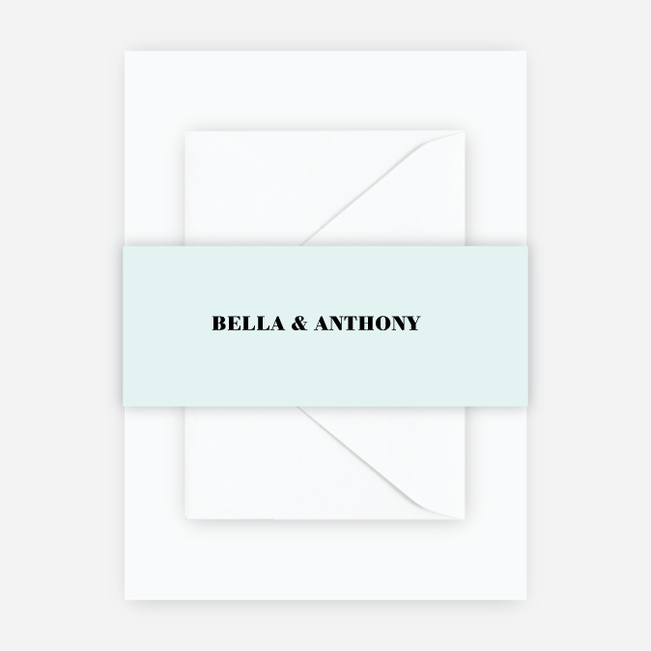 Boldly Typographic Wedding Belly Bands - Blue