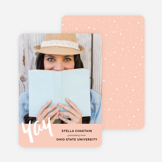 Simple Cheer Graduation Announcements - Pink