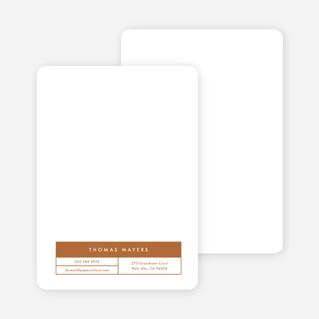 Block Corporate Stationery - Brown