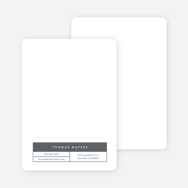 Block Corporate Stationery - Gray
