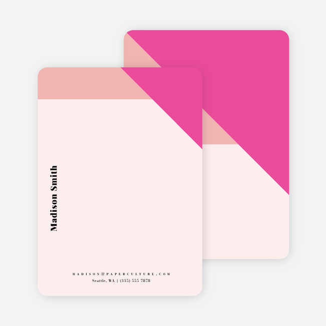 Geometric Bliss Stationery - Pink