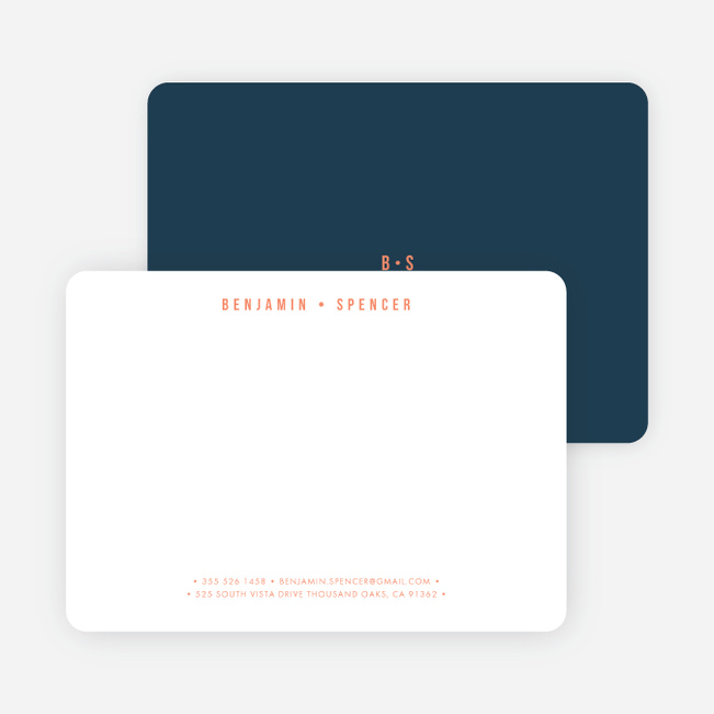 Monogram Pro Stationery - Blue