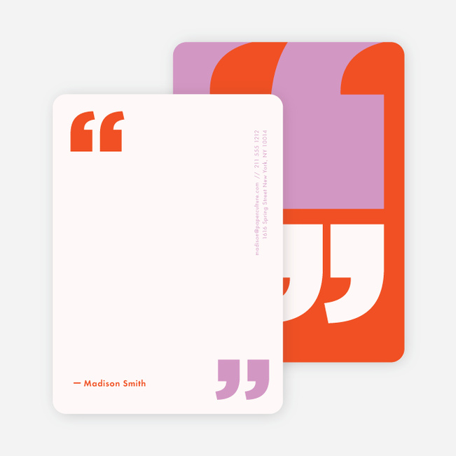 Quotable Note Cards - Orange