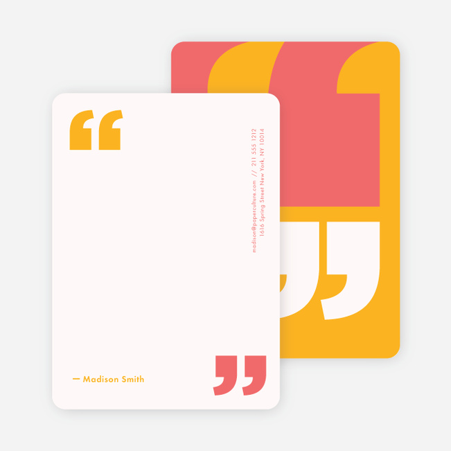 Quotable Note Cards - Yellow